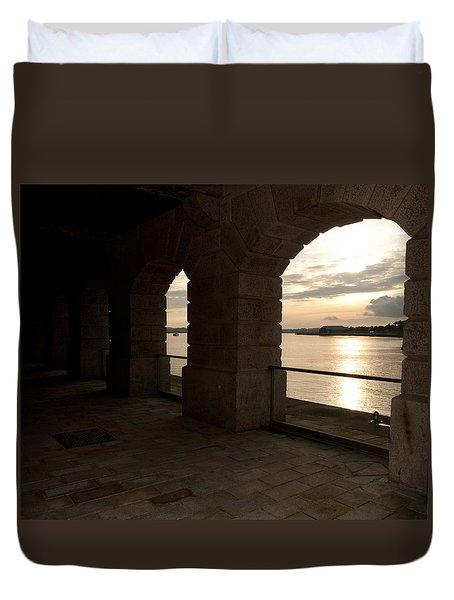 Tamar Estuary Sunset Duvet Cover