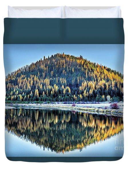 Tamarack Glow Idaho Landscape Art By Kaylyn Franks Duvet Cover