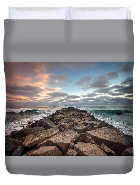 Tamarack Jetty Duvet Cover by Ann Patterson