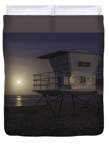 Tamarack Moonset Duvet Cover