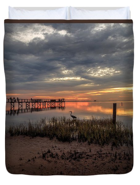 Duvet Cover featuring the photograph Tampa  by Anthony Fields