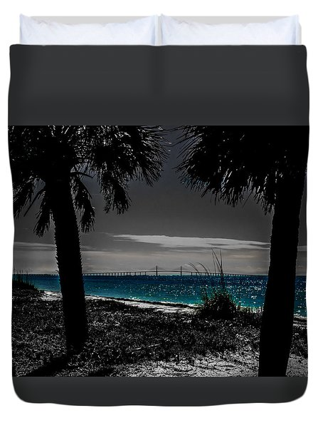 Tampa Bay Blue Duvet Cover