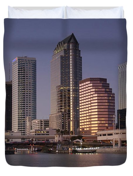 Tampa Florida  Duvet Cover by David Lee Thompson