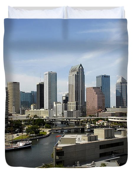 Tampa Florida Landscape Duvet Cover by David Lee Thompson
