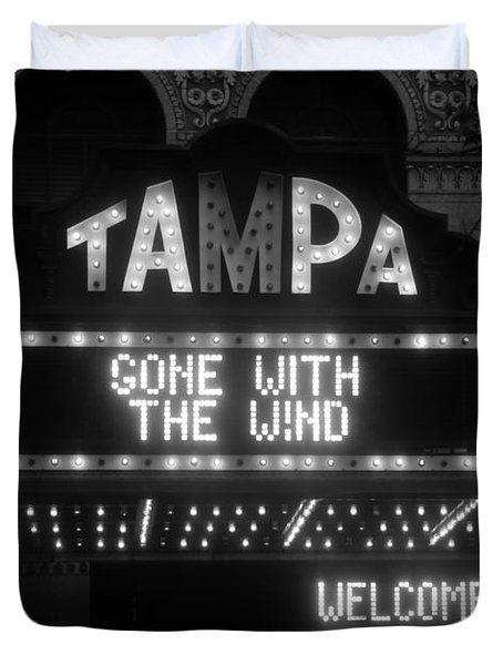 Tampa Theatre 1939 Duvet Cover by David Lee Thompson