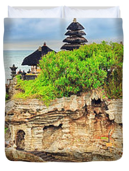 Tanah Lot Duvet Cover by MotHaiBaPhoto Prints