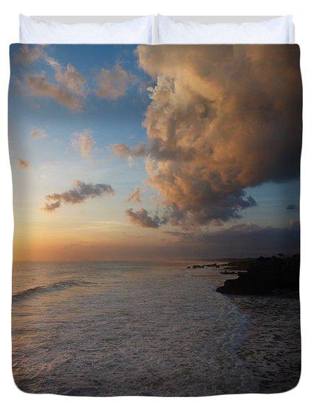Tanah Lot Sunset Duvet Cover