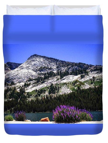 Tanaya Lake Wildflowers Yosemite Duvet Cover