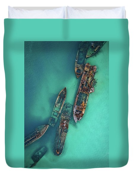 Tangalooma Wrecks Duvet Cover