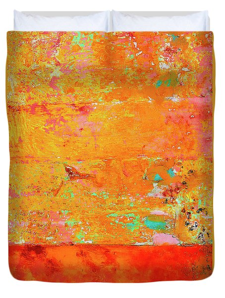 Tangerine Dream Duvet Cover by Skip Hunt