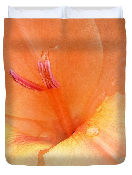 Tangerine Gladiola Duvet Cover