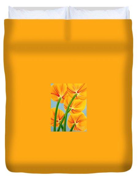 Tangerine Duvet Cover