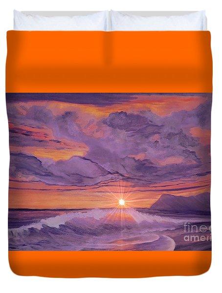 Tangerine Sky Duvet Cover