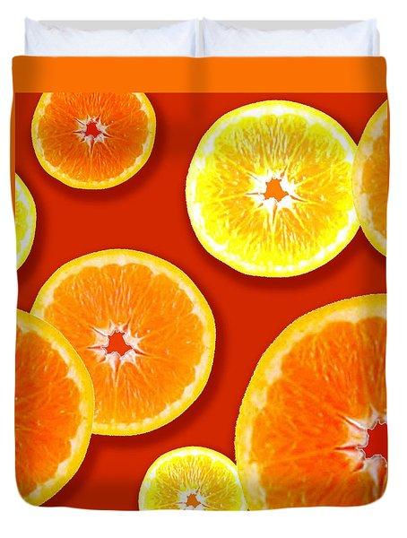 Tangerine Tango Duvet Cover