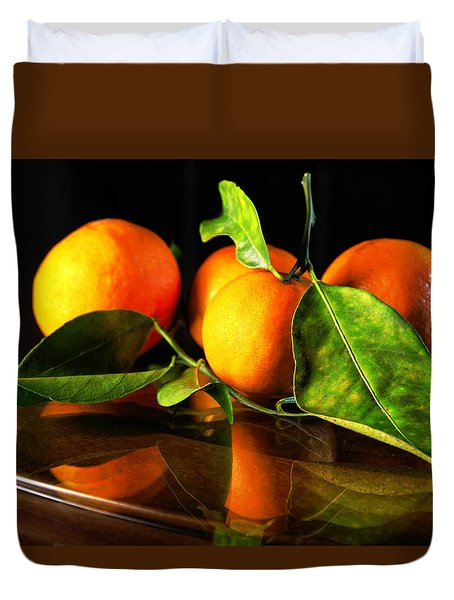 Tangerines Duvet Cover
