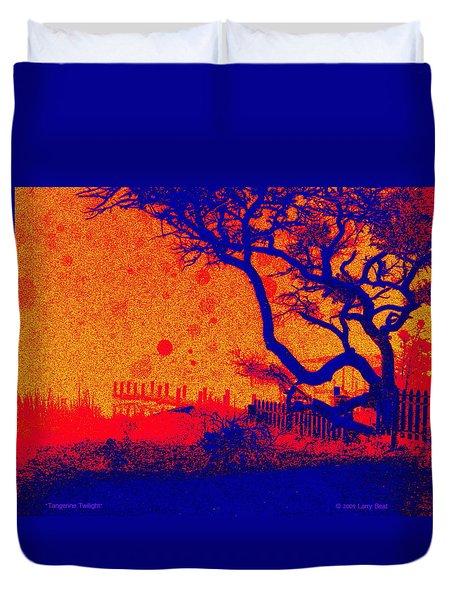 Tangerine Twilight Duvet Cover