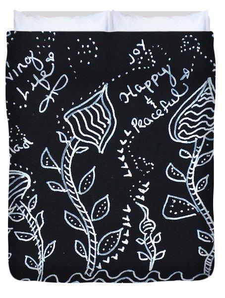 Tangle Flowers Duvet Cover