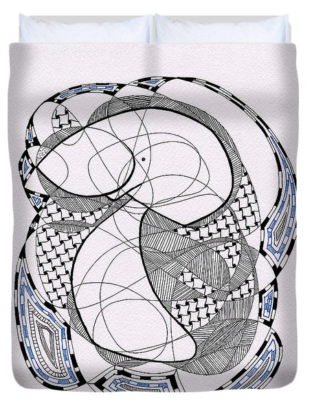 Tangle Monster Drawing Duvet Cover