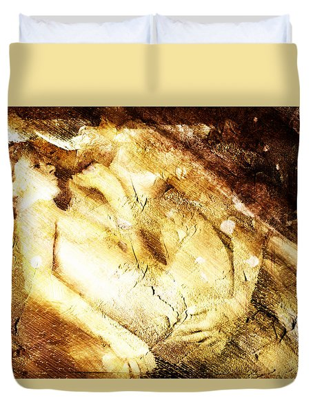 Tangle Of Naked Bodies Duvet Cover by Andrea Barbieri