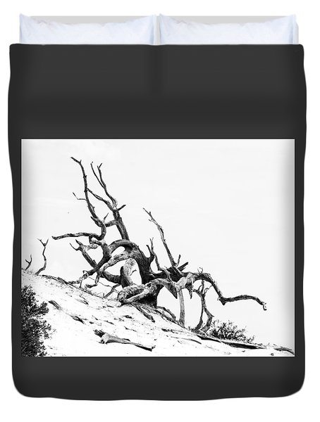 Duvet Cover featuring the photograph Tangled by Alan Raasch