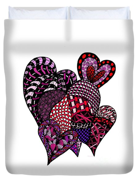 Tangled Hearts Duvet Cover by Nan Wright
