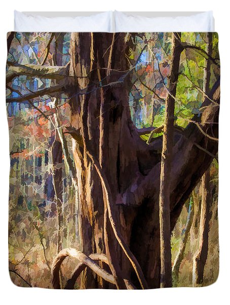 Tangled Vines On Tree Duvet Cover