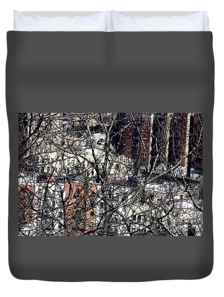 Tangled Town Duvet Cover by Sarah Loft