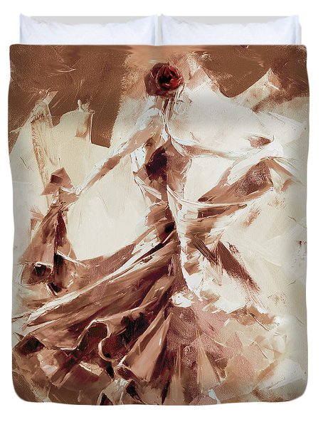Duvet Cover featuring the painting Tango Dance 9910j by Gull G