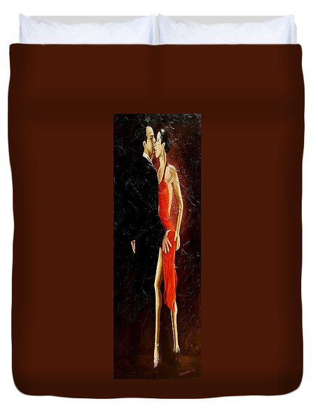 Tango Dancers #3 Duvet Cover