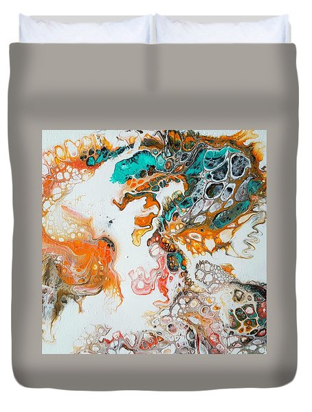 Tango With Turquoise Duvet Cover