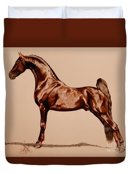 Tangos Daylight - Saddlebred Stallion Duvet Cover