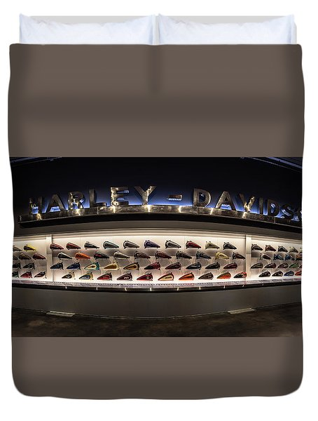 Duvet Cover featuring the photograph Tank Wall by Randy Scherkenbach