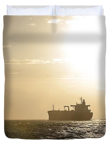 Tanker In Sun Duvet Cover