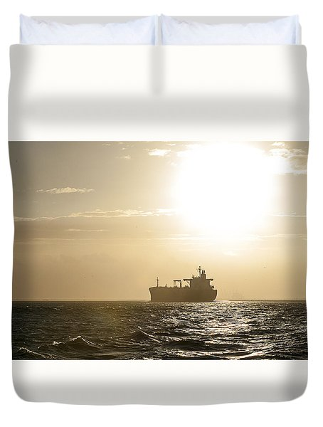 Tanker In Sun Duvet Cover