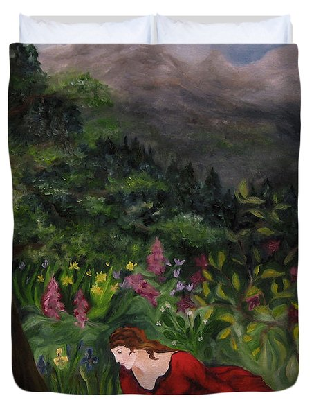 Tansel Of Loralin Duvet Cover