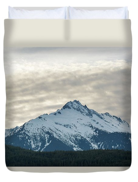 Tantalus Mountain Range Closeup Duvet Cover