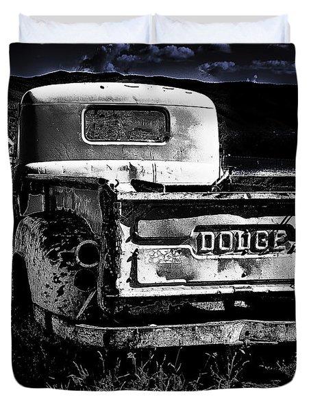 Taos Dodge B-w Duvet Cover