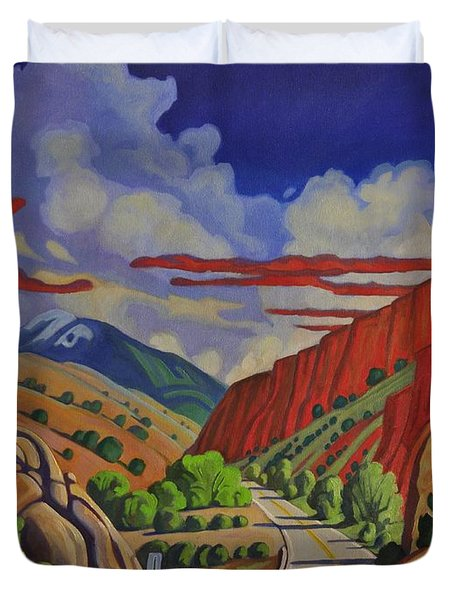 Taos Gorge Journey Duvet Cover