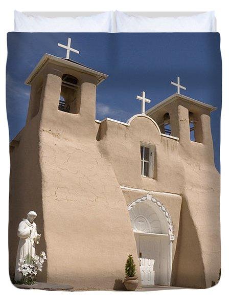Taos Landmark Duvet Cover by Jerry McElroy
