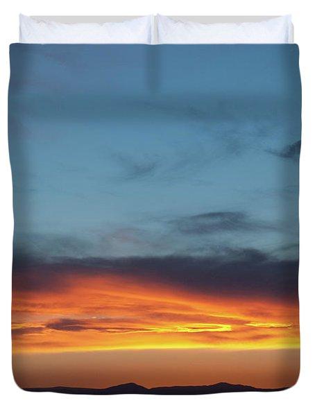 Taos Mesa Sunset Duvet Cover