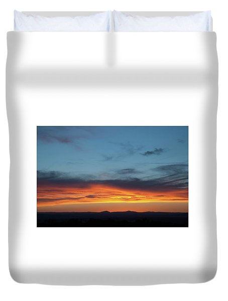Taos Mesa Sunset Duvet Cover