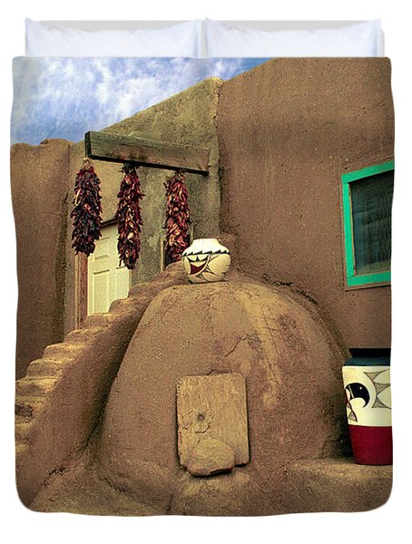 Taos Oven Duvet Cover by Jerry McElroy