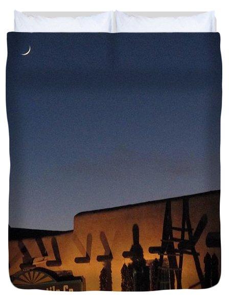 Taos Plaza Duvet Cover