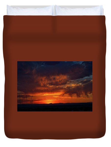Taos Virga Sunset Duvet Cover