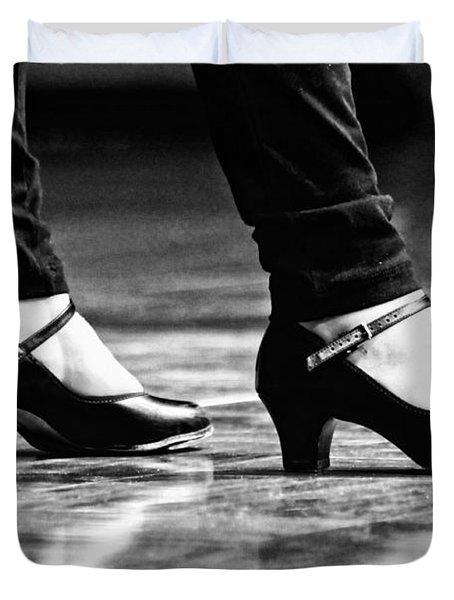 Tap Shoes Duvet Cover by Lauri Novak