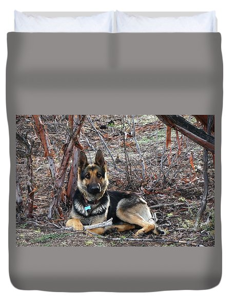 Duvet Cover featuring the photograph Tara by Julia Ivanovna Willhite