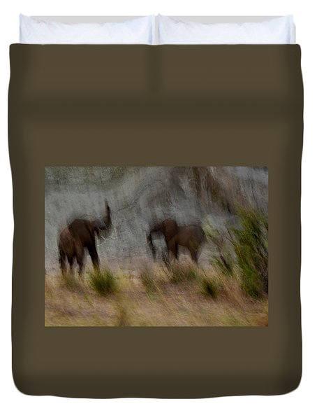 Tarangire Elephants 1 Duvet Cover