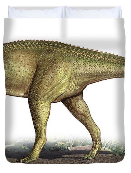Tarascosaurus Salluvicus, A Prehistoric Duvet Cover by Sergey Krasovskiy
