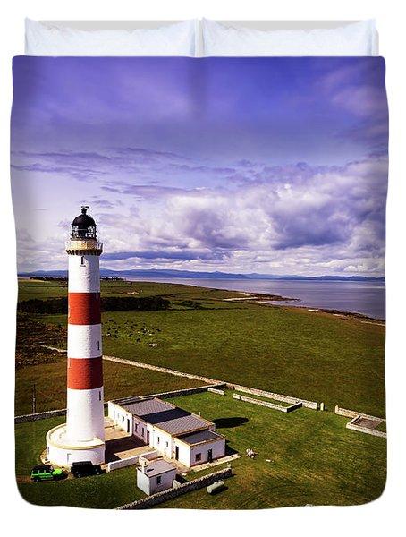 Tarbat Ness Lighthouse Duvet Cover