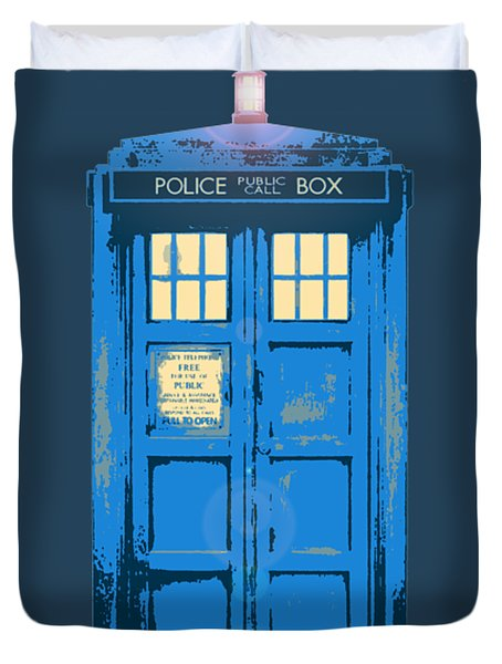 Tardis - Think Inside The Box Duvet Cover by Richard Reeve